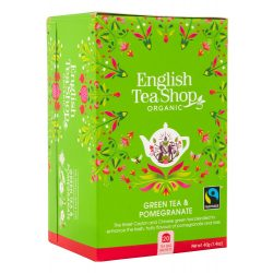 English Tea Shop Bio zöldtea Gránátalmával 20 filter