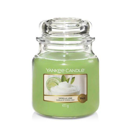 Yankee Candle Vanilla lime közepes üveggyertya