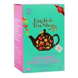 English Tea Shop Tőzegáfonyás-vaníliás bio tea