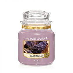 Yankee Candle Dried Lavender & Oak közepes üveggyertya