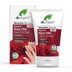 Dr. Organic Kéz- és körömápoló krém bio damaszkuszi rózsaolajjal