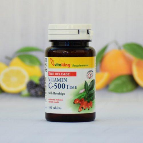 VitaKing C-vitamin és csipkebogyó 500 mg - elnyújtott felszívódás