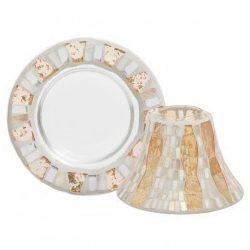Yankee Candle Gold & Pearl Crackle nagy búra és tányér