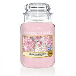 Yankee Candle Snowflake Cookie nagy üveggyertya