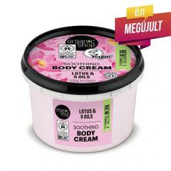 Organic Shop Indiai lótusz testápoló krém bio lótusz és 5 növényi olajkivonattal