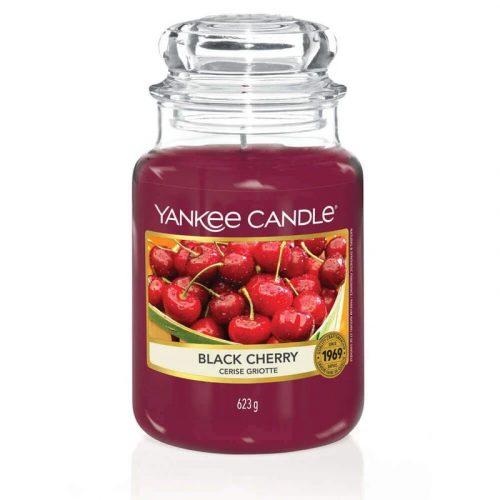 Yankee Candle Black Cherry nagy üveggyertya