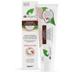 Dr Organic Bio Kókuszolaj fehérítő fogkrém 100ml