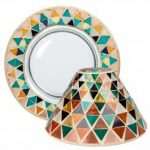 Yankee Candle Corsica Mosaic nagy búra és tányér