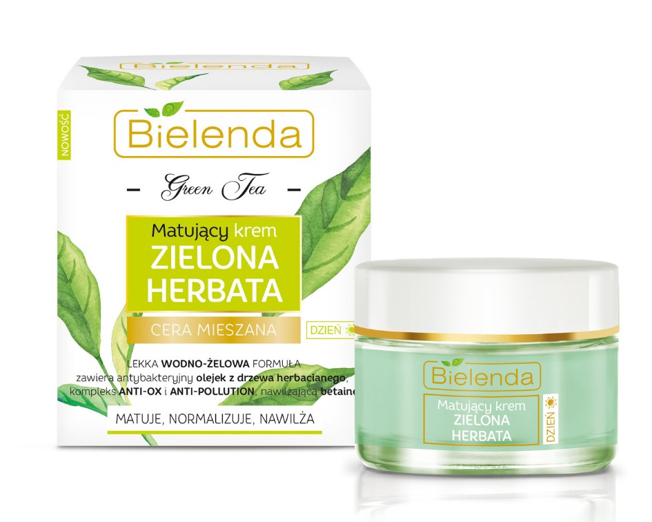 Bielenda Zöld Tea Mattító nappali arckrém - Édes élvezetek b