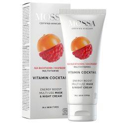 MOSSA Vitamin Cocktail Multifunkciós vitamin maszk + éjszakai krém száraz, fakó bőrre 60ml