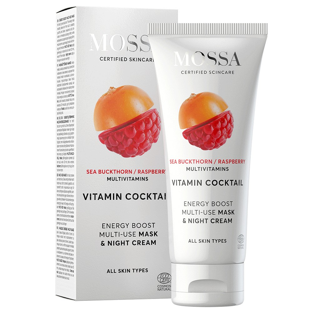 MOSSA Vitamin Cocktail Multifunkciós vitamin maszk + éjszaka