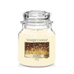 Yankee Candle All is Bright közepes üveggyertya