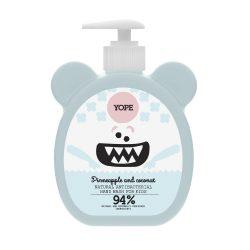 YOPE Kókusz és ananász természetes, antibakteriális kézmosó szappan gyermekeknek 400ml