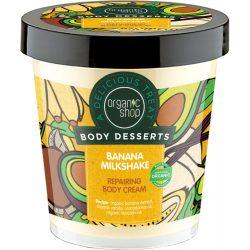 """Organic Shop """"Banán shake"""" regeneráló testápoló 450ml"""
