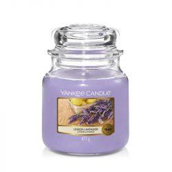 Yankee Candle Lemon Lavender közepes üveggyertya