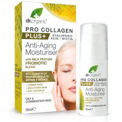 Dr Organic Pro Collagen Anti-Aging hidratáló arckrém tejprotein probiotikummal 50ml