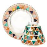 Yankee Candle Corsica Mosaic kis búra és tányér