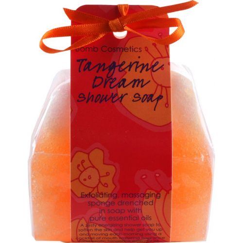 Bomb Cosmetics Szivacsos tusoló szappan mandarin és vérnarancs