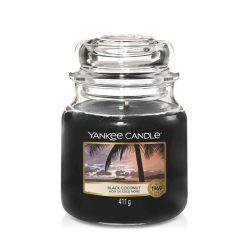Yankee Candle Black Coconut közepes üveggyertya