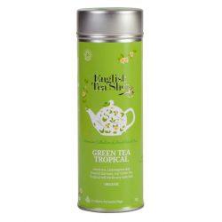 English Tea Shop Trópusi gyümölcsös Zöld tea fémdobozban