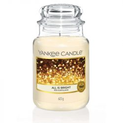 Yankee Candle All is bright nagy üveggyertya