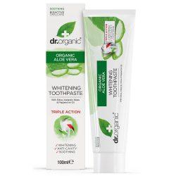 Dr. Organic Aloe Vera Fehérítő fogkrém 100ml