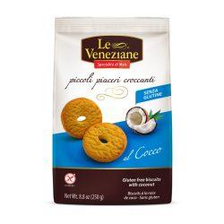 Le Veneziane Gluténmentes kókuszos keksz