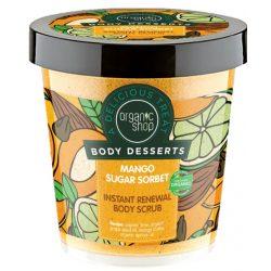Organic Shop Bőrmegújító cukros testradír Mango Sugar