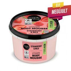 """Organic Shop """"Eper joghurt"""" testápoló mousse"""