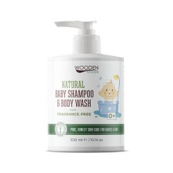 Wooden Spoon Natural - Baba sampon és tusfürdő - illatmentes 300 ml