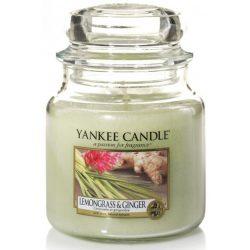 Yankee Candle Lemongrass & Ginger közepes üveggyertya