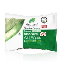 Dr. Organic Bio Aloe Vera nedves törlőkendő