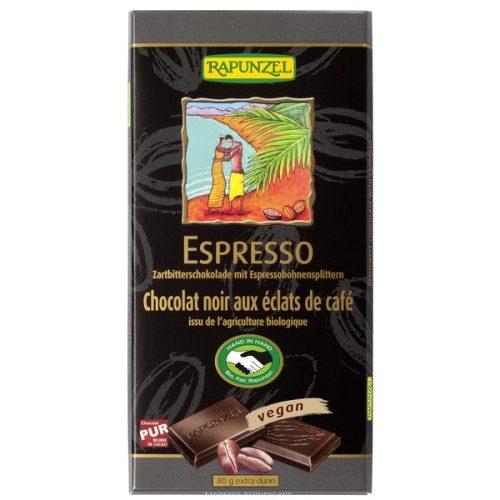 Rapunzel Svájci Félédes kávés csokoládé 80g