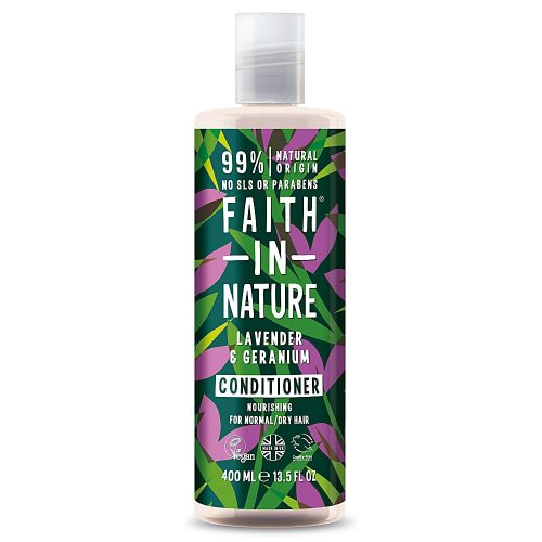 Faith in Nature Levendula és geránium hajkondicionáló 400ml