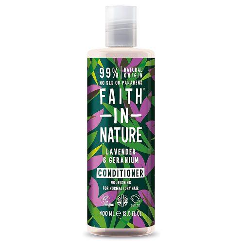 Faith in Nature Levendula és geránium hajkondicionáló 400ml