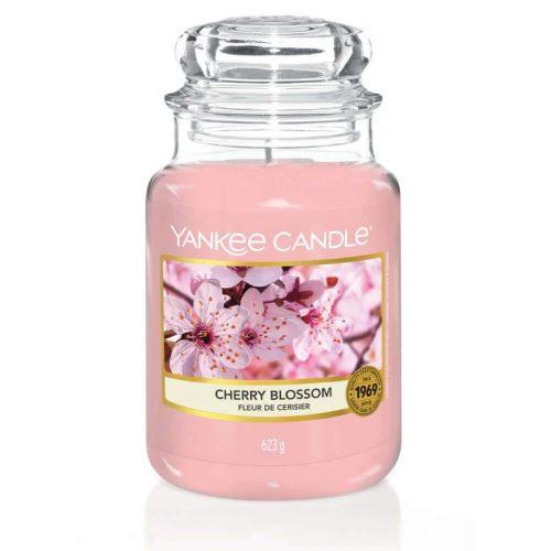 Yankee Candle Cherry Blossom nagy üveggyertya