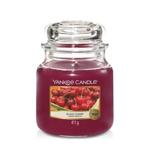 Yankee Candle Black Cherry közepes üveggyertya