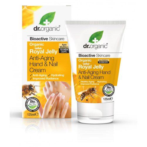 Dr. Organic Öregedésgátló kéz- és körömápoló krém bio méhpempővel