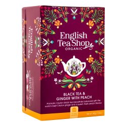 English Tea Shop Bio tea - Gyömbér Őszibarack  20 filter