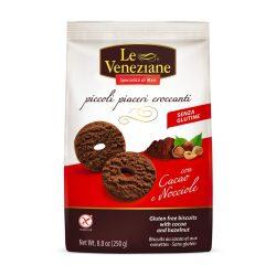 Le Veneziane Gluténmentes kakaós-mogyorós keksz