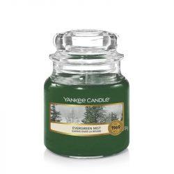 Yankee Candle Evergreen Mist kis üveggyertya