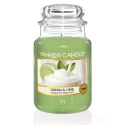 Yankee Candle Vanilla lime nagy üveggyertya