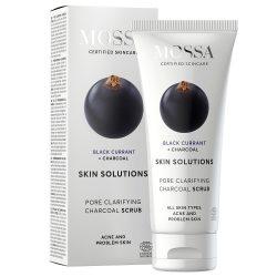 MOSSA Skin Solution Pórustisztító arcradír aktív szénnel 60ml