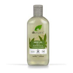 Dr. Organic Bioaktív Kendermagolaj 2in1 Sampon és hajkondícionáló 265ml