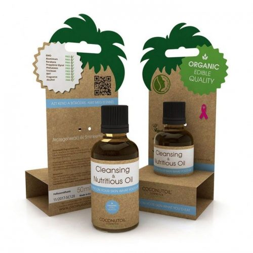 Coconutoil Cosmetics Arcregeneráló és Sminklemosó Olaj 50ml