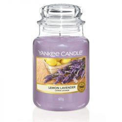 Yankee Candle Lemon Lavender nagy üveggyertya