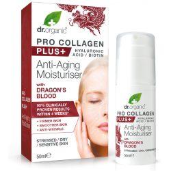 Dr Organic Pro Collagen Anti-Aging hidratáló arckrém sárkányvérfa kivonattal
